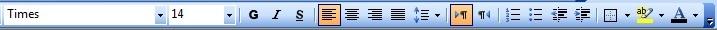 Figure (3) : Alignement d'un texte