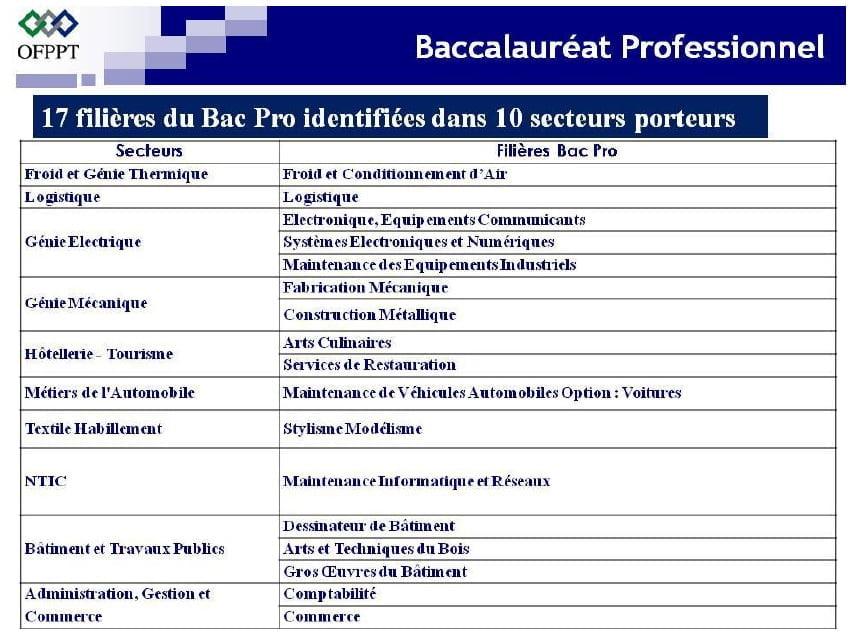 شرح طريقة التسجيل في البكالوريا المهنية