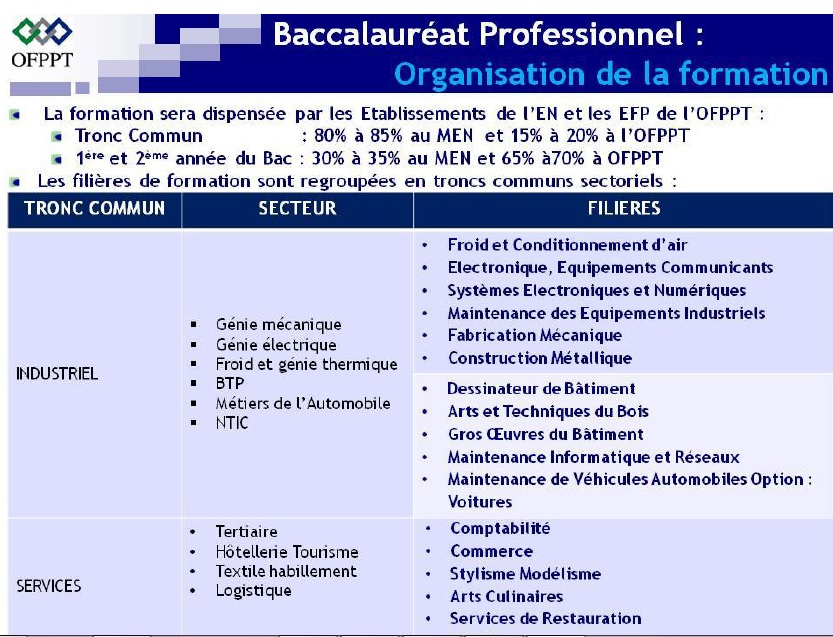 جميع المعلومات حول البكالوريا المهنية